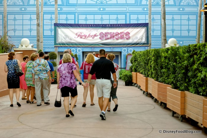 Walkway Leading to the World ShowPlace for Party for the Senses