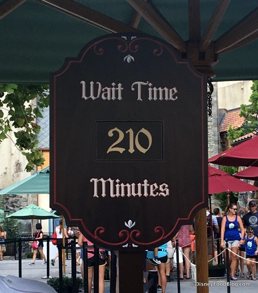 Recent Wait Time for Frozen Ever After