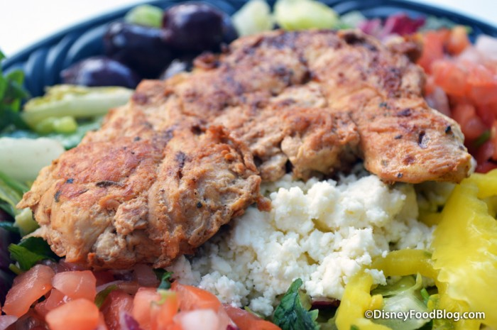Baked Chicken on the Greek Salad