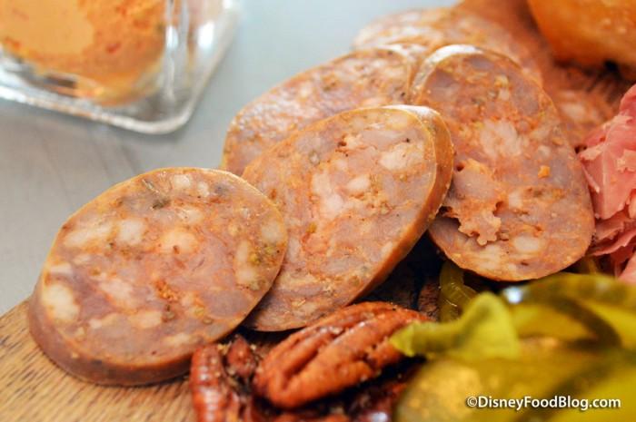 Jasper Board -- Smoked Sausage and Pecans
