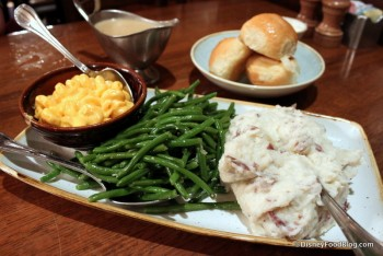 Side Dishes -- Macaroni and Cheese, Green Beans, Mashed Potatoes, and Gravy