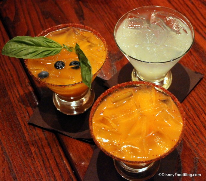 Trio of Margaritas -- Maelstrom, Classic, and Orange Mango Fire