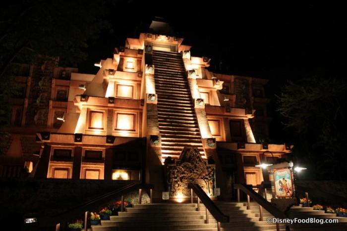 Mexico Pyramid at Night