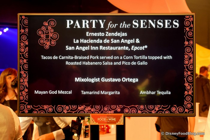 LED Sign for a Tasting Table and Corresponding Pairings