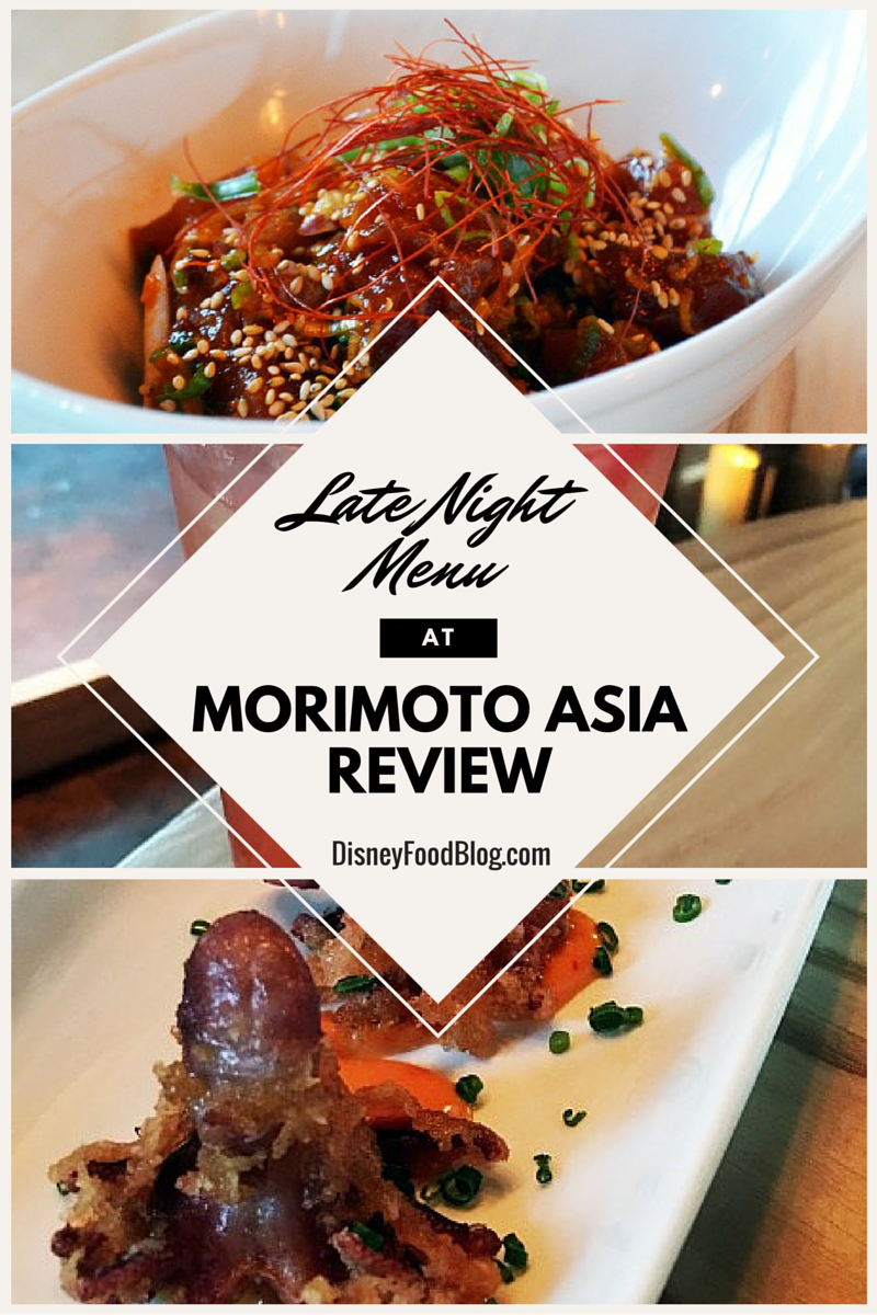 New Late Night Menu and Forbidden Lounge at Morimoto Asia in Disney Springs