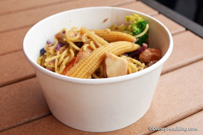 Pan Asian Noodles and Vegetables with Chicken