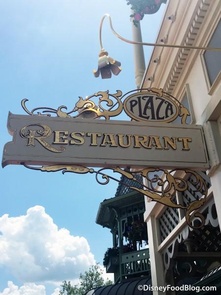 The Plaza Restaurant sign