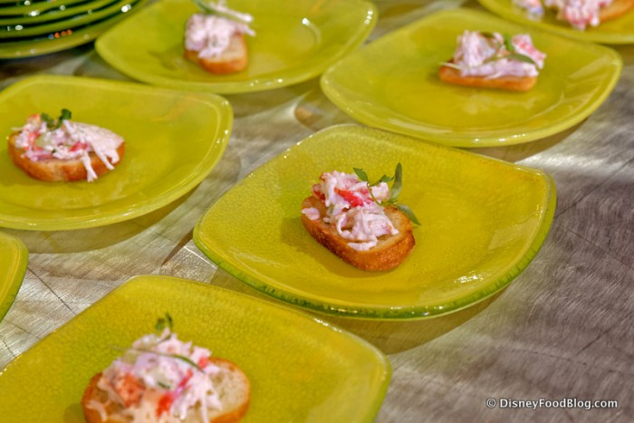 Alaskan King Crab Toast