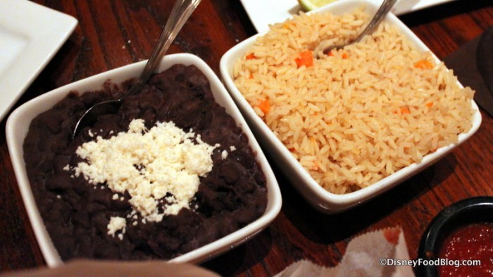 Shareable Sides of Black Beans and Rice