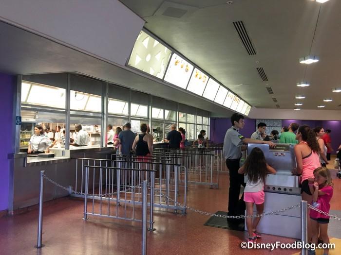 Ordering kiosks at Tomorrowland Terrace