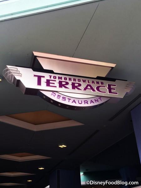 Entering Tomorrowland Terrace!