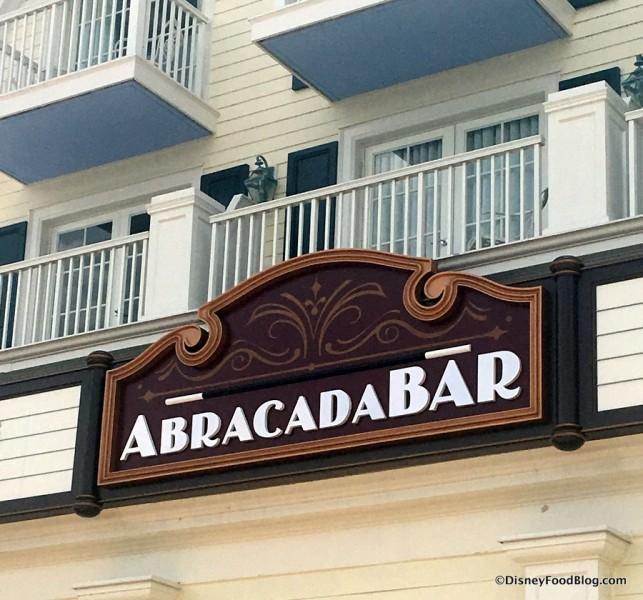 AbracadaBar Sign