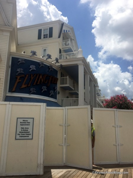 Refurbishment Walls surrounding Flying Fish