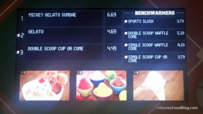Gelato and Smoothie Menu