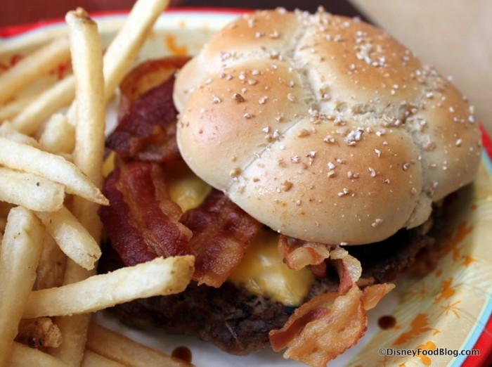 Bacon Angus Cheeseburger -- Up Close