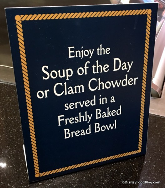 Bread Bowl sign