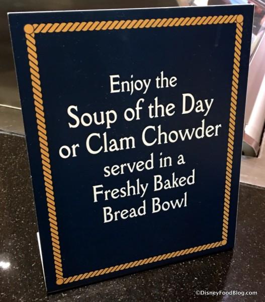 Bread Bowl sign
