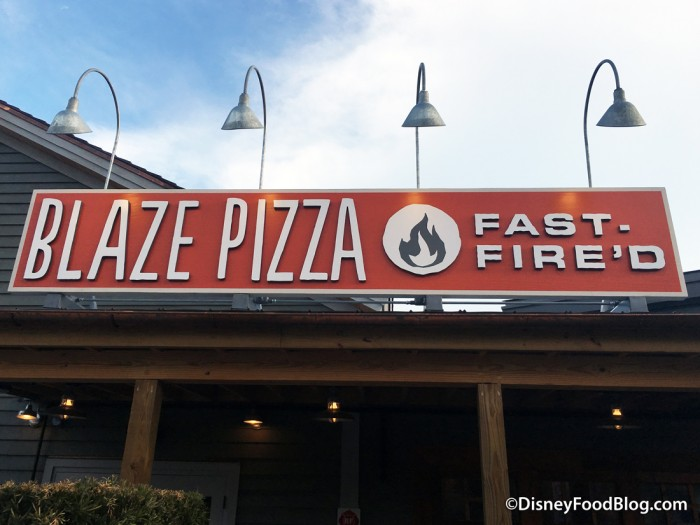 Blaze Fast-Fire'd Pizza sign