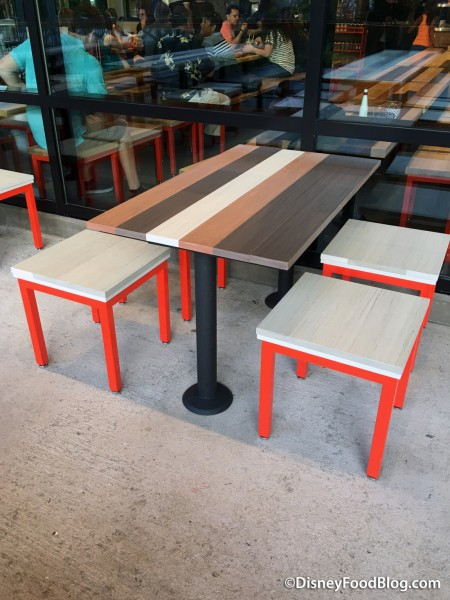 Table Seating Outside