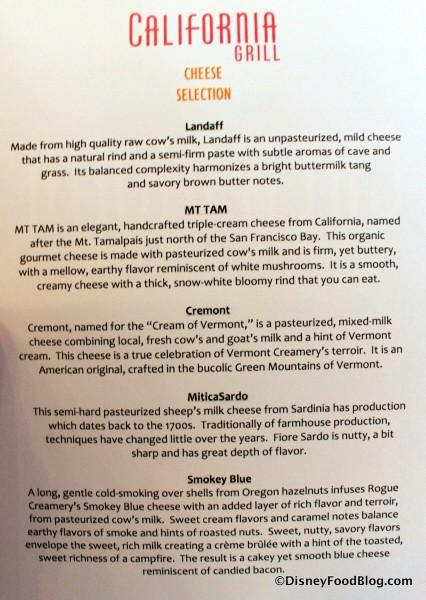 Cheese Descriptions