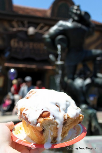 Gaston and His Cinnamon Roll!