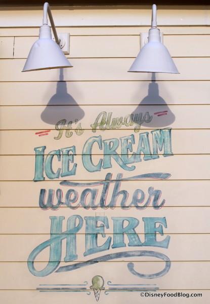 """""""It's Always Ice Cream Weather Here"""""""