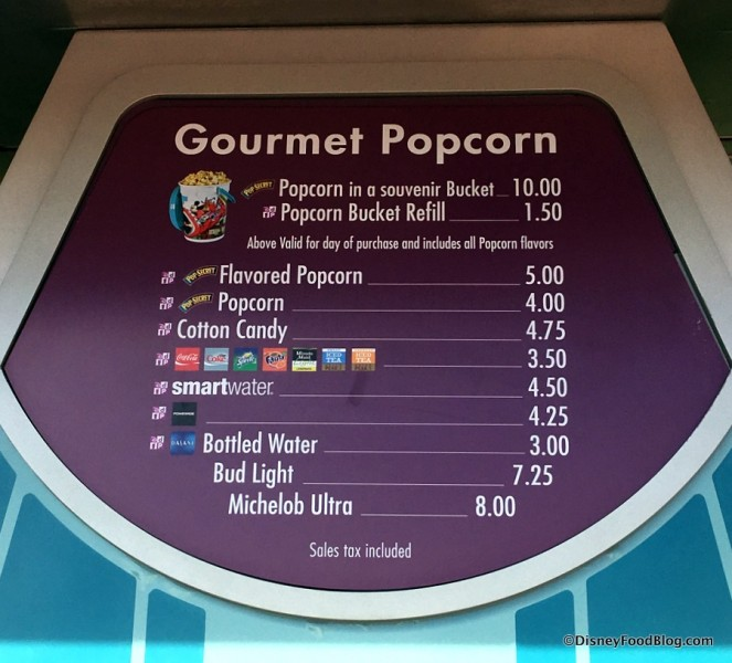 Gourmet Popcorn Stand Menu