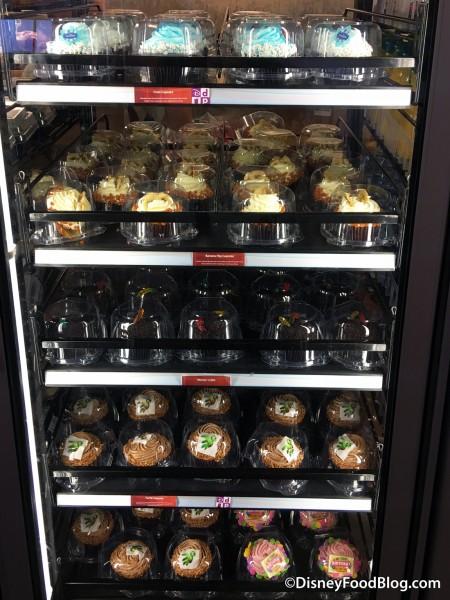 Cupcake selection at Contempo Café