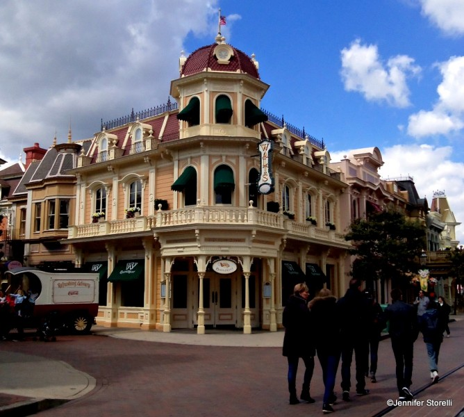 Walt's—an American restaurant greets guests in the middle of Main Street, U.S.A.