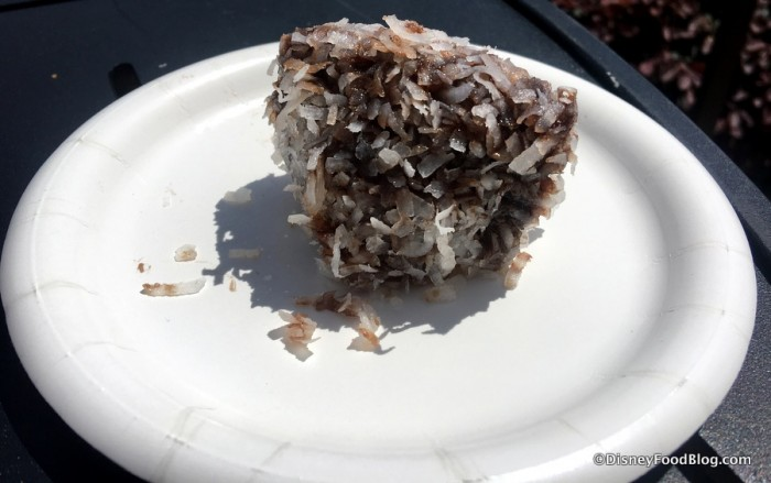Lambington: Yellow Cake Dipped in Chocolate and Shredded Coconut