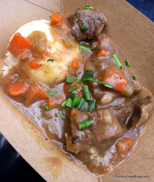 Beer-braised Beef served with Smoked Gouda Mashed Potatoes