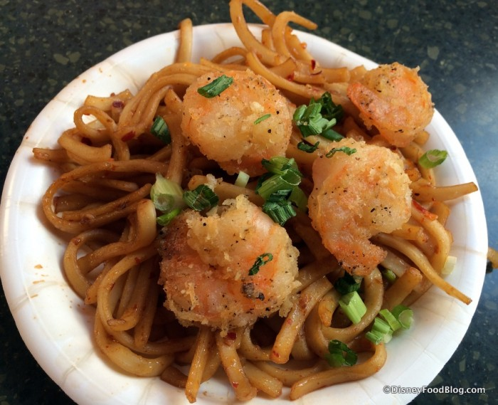 Black Pepper Shrimp with Garlic Noodles