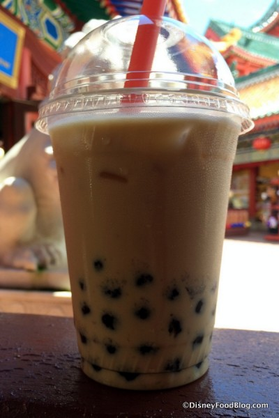 Mango Bubble Tea with Assam Black Tea and Milk