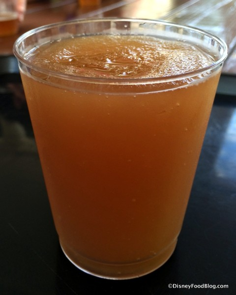"Frozen Orange-spiked Tea featuring Florida Cane ""Orlando Orange"" Vodka"