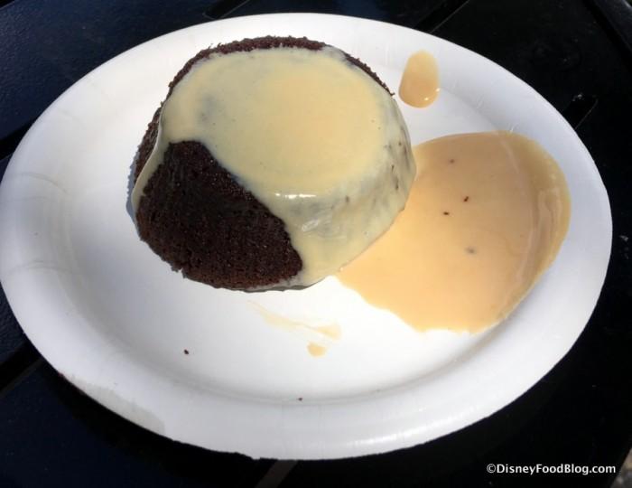 Warm Chocolate Pudding with Irish Cream Liqueur Custard