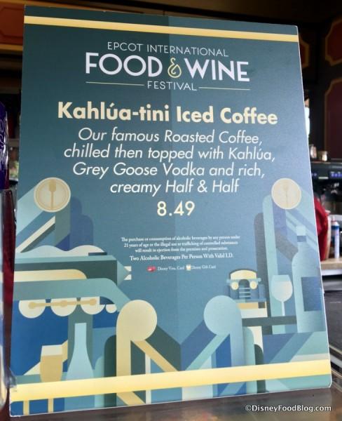 Kahlua-tini Iced Coffee