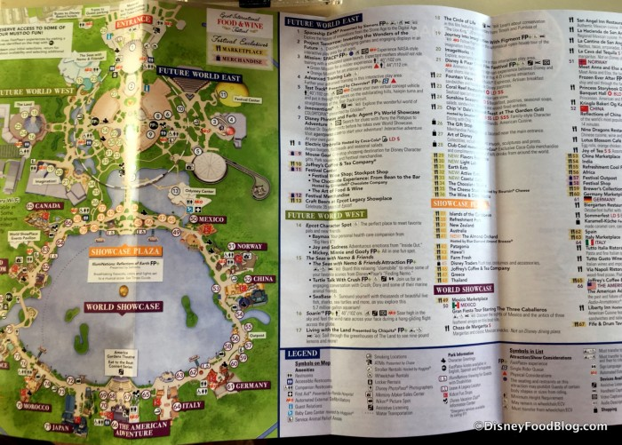 2017 Epcot Food and Wine Festival Map