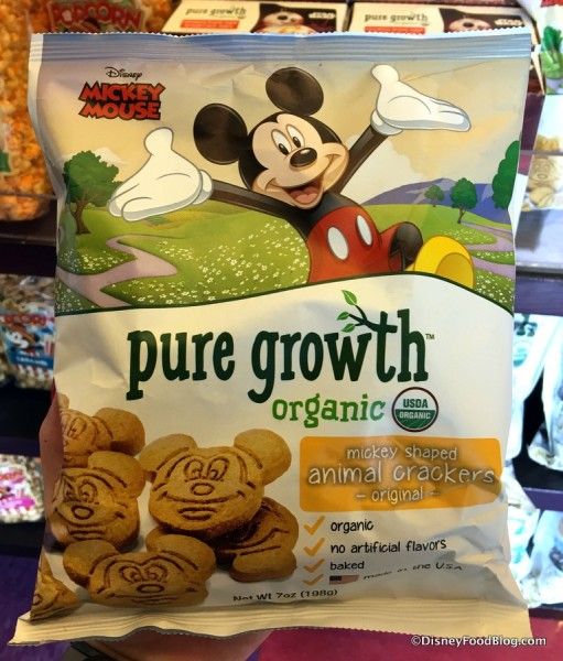 Pure Growth Organic Snacks original animal cracker packaging