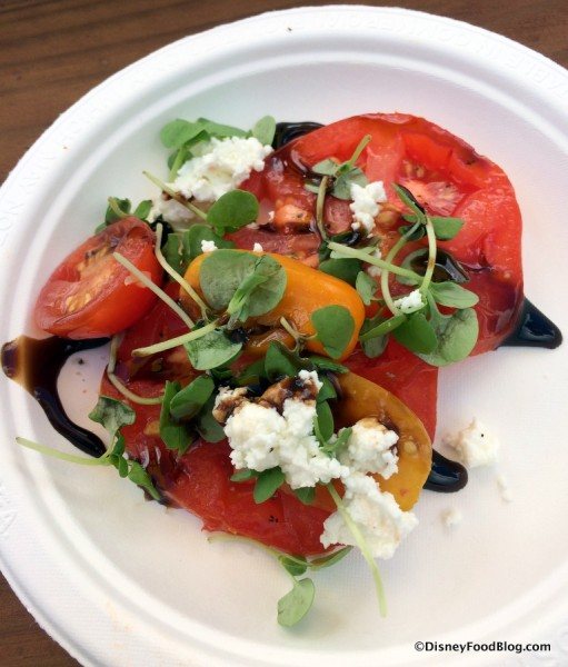 Heirloom Tomato Salad with Goat Cheese, Aged Balsamic Vinegar and Micro-Basil