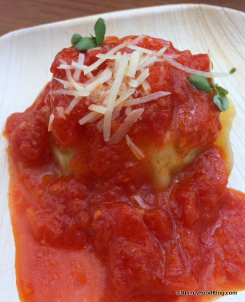 Ricotta and Zucchini Ravioli with Rustic Tomato Sauce