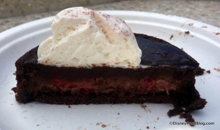 Ghirardelli® Chocolate Raspberry Torte cross-section