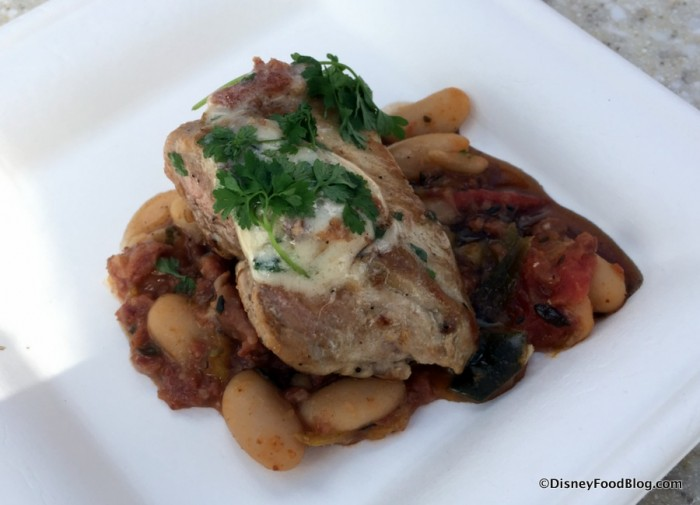 epcot-food-and-wine-festival-2016-the-wine-and-dine-studio-pork-tenderloin-with-cannellini-bean-ragout-and-zinfandel-reduction-2
