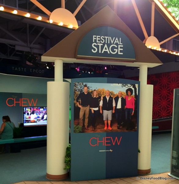 Festival Stage Featuring Clips from The Chew