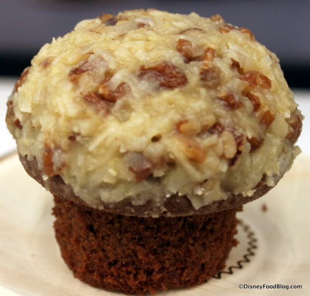 German Chocolate Cupcake -- Out of the Wrapper