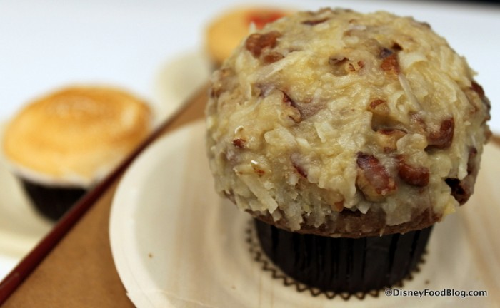 German Chocolate Cupcake