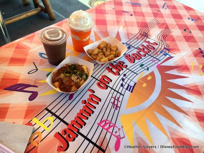 Jammin' on the Backlot Table and Our Tot-chos and Slushies!