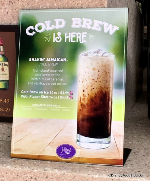 Joffrey's Cold Brew sign