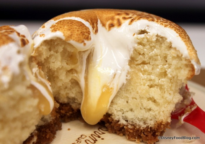 Lemon Meringue Cupcake -- Cross Section