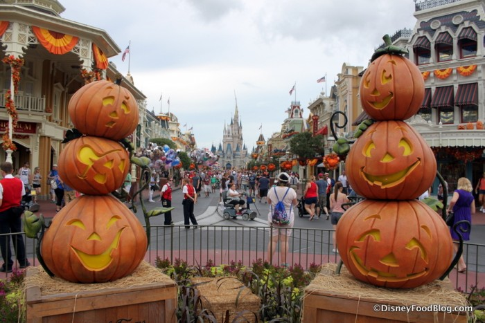Halloween Decorations in Magic Kingdom