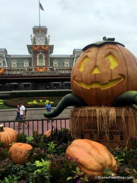 Halloween Decorations in Magic Kingdom